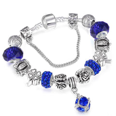 Royal Crown Crystal Charm Bracelets