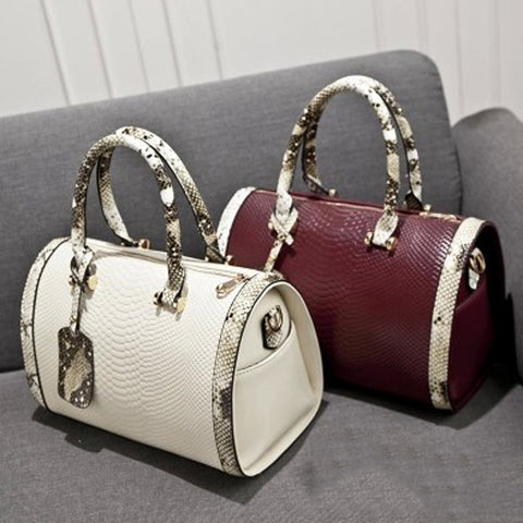 Snakeskin Genuine Leather Shoulder Bags
