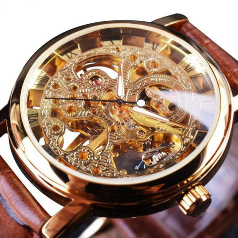 Men's Transparent Skeleton Watch