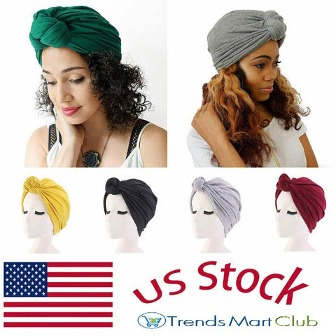 Women Stretch Twisted Headwrap