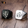 Customize Engrave Personalized Men Signet Rings