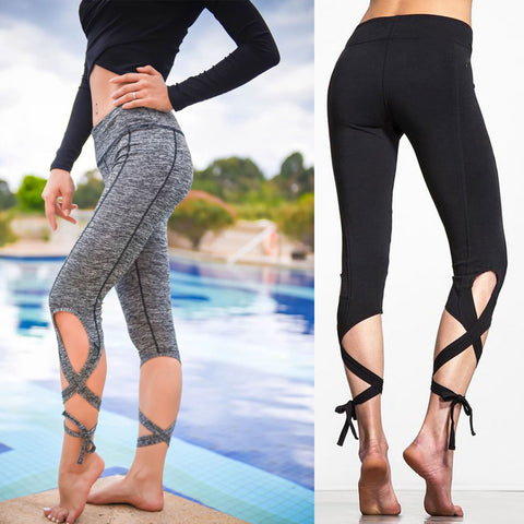 Women Patchwork Elastic Compression Sport Leggings