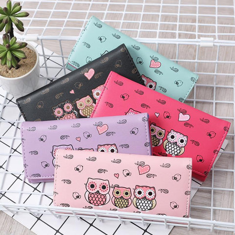 Women Cute Owl Lady Coin Purse Wallets