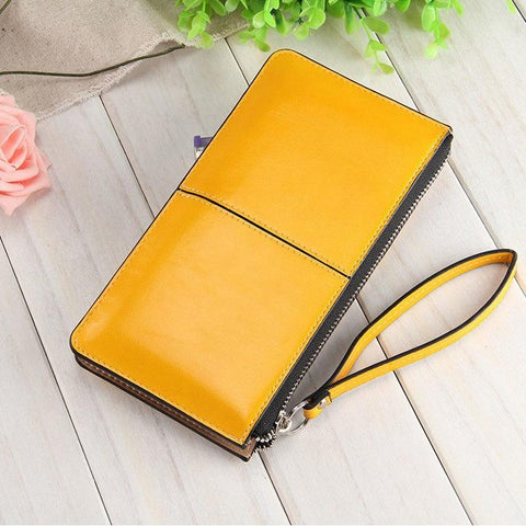 FREE Glossy Leather Clutch Wallets