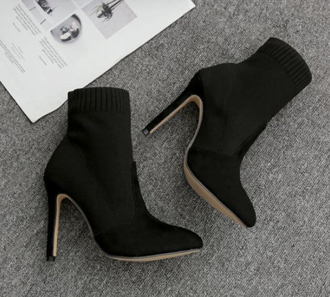Women Fashion Socks High Heels Shoes