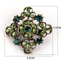 FREE Antique Flower Rhinestone Brooches