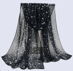 Chiffon Winter Wrap Soft Scarves