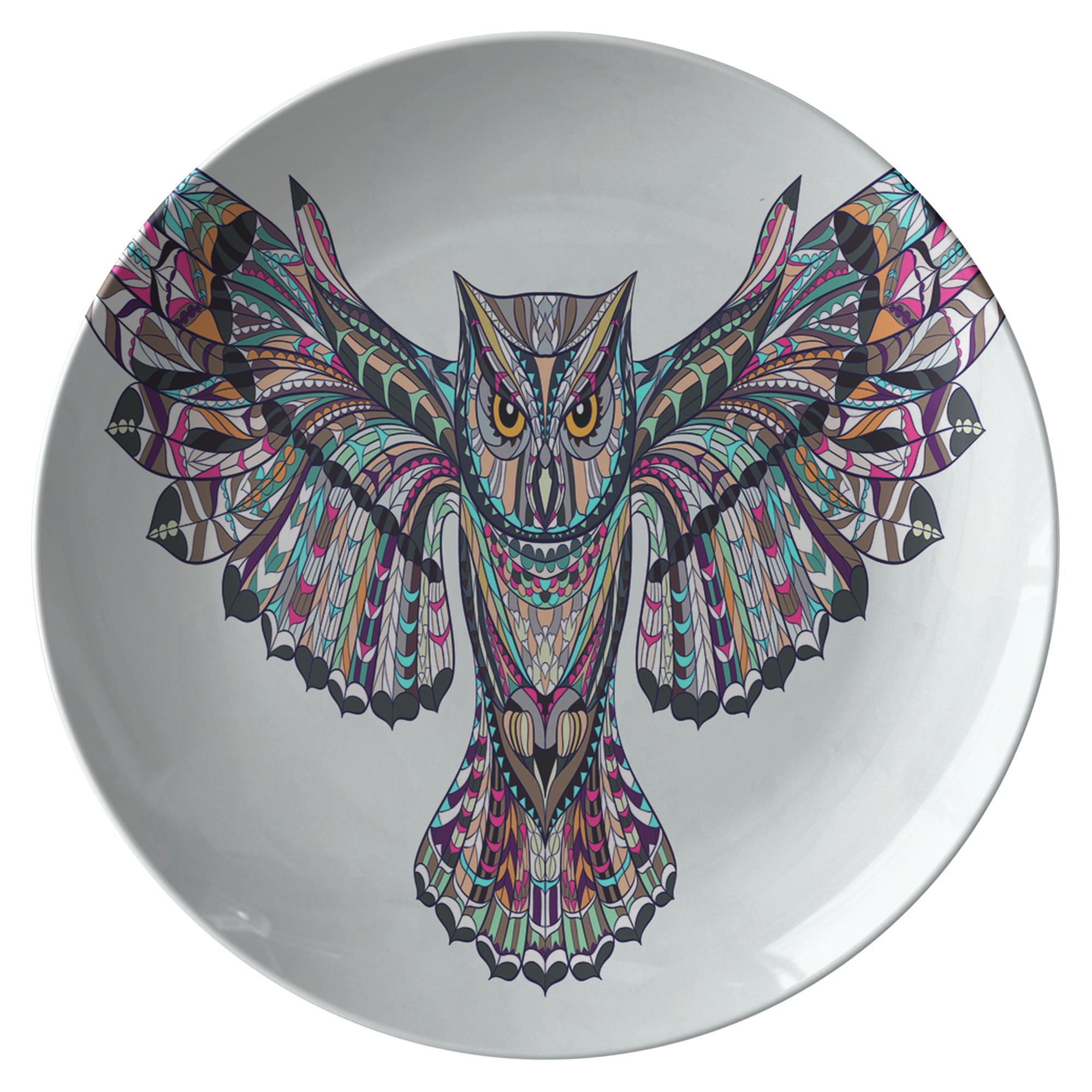 Fierce Owl Limited Edition Plate