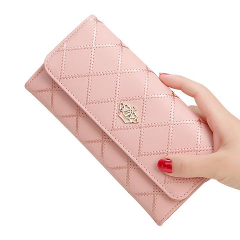 Women's Crown Long Clutch Wallets