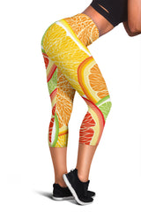 Citrus Slice Women's Capris