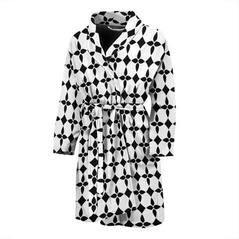 BW Abstract Men's Bath Robe