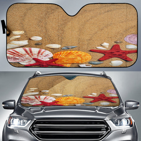 Beach Shells Auto Sun Shade
