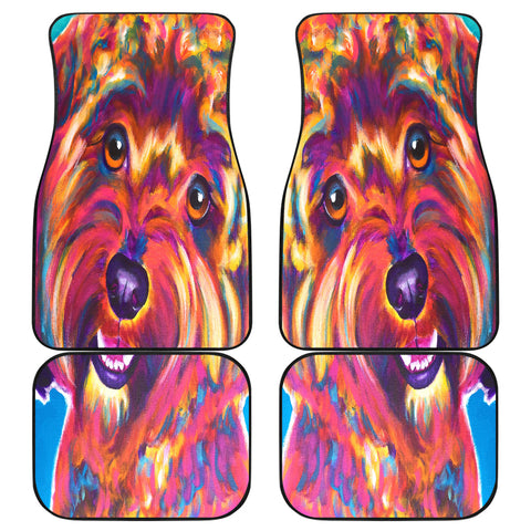 Yorkie Dog Front And Back Car Mats
