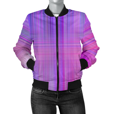 Straight Lines And Colors Women's Bomber Jacket