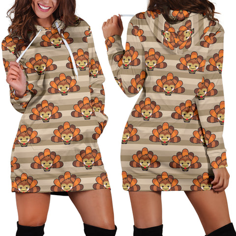 Thankful Turkey Hoodie Dress