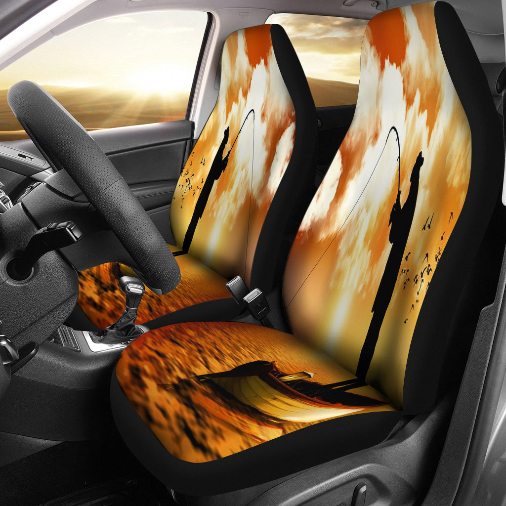 Fishing Is Life Car Seat Cover