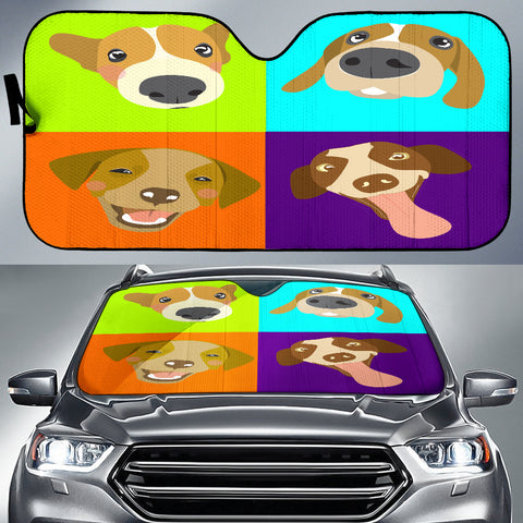 Dog Collage Auto Sun Shade - Express Shipping