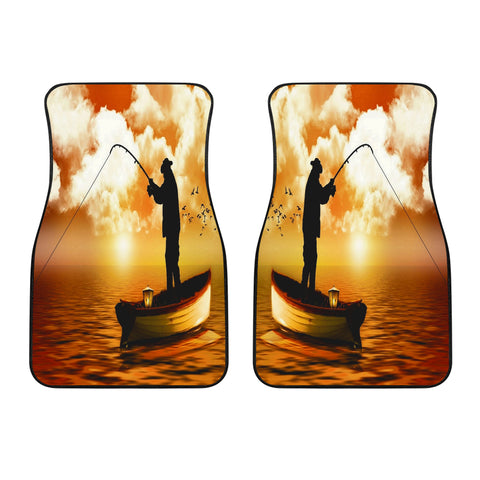 Fishing Is Life Front Car Mats
