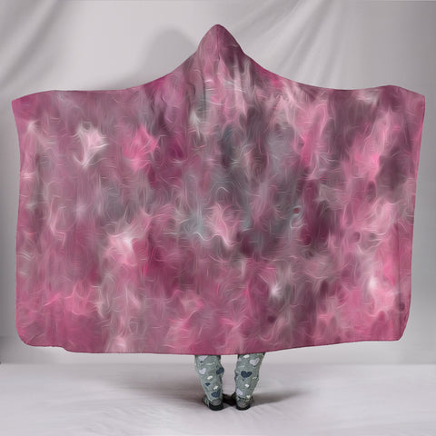 Pink & Gray Hooded Blanket -  Express Shipping