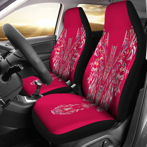 Fierce In Pink Owl Car Seat Covers