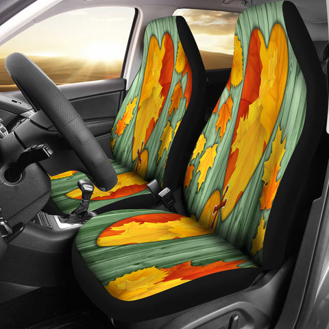 I Love Maple Leaves Car Seat Covers