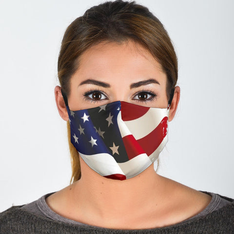 US Flag Mask With Filters