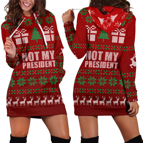Ugly Christmas Hoodie - Not My President