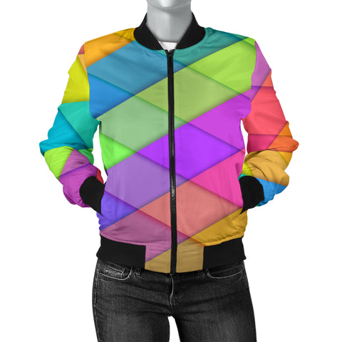 Love Pastel Colors Women's Bomber Jacket