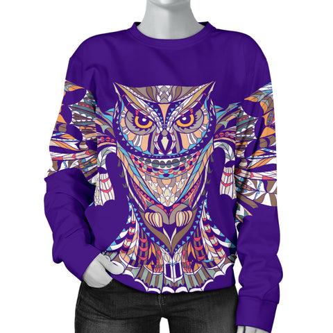 Indigo Owl Sweater