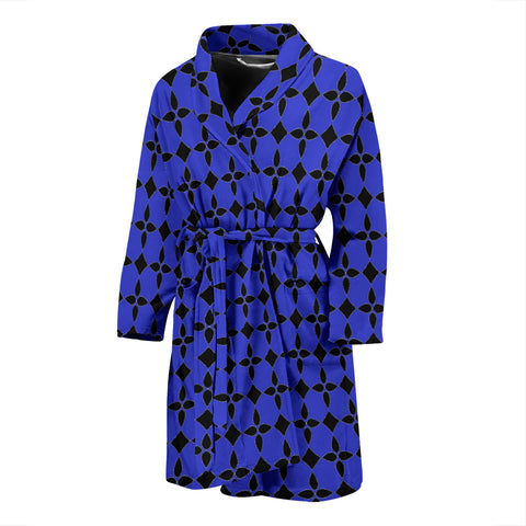 Blue Abstract Men's Bath Robe