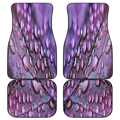 Purple Leaf Front And Back Car Mats