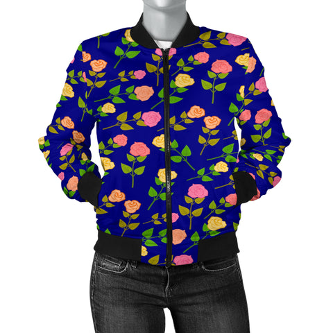 Pretty Roses Women's Bomber Jacket