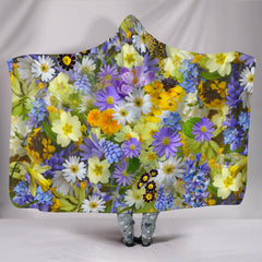 Beautiful Flowers Hooded Blankets