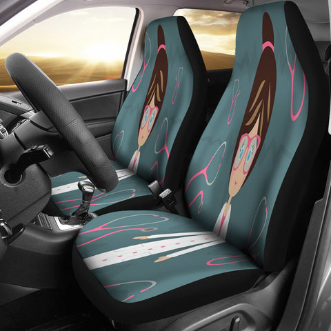 Nurse Stethoscope Car Seat Cover