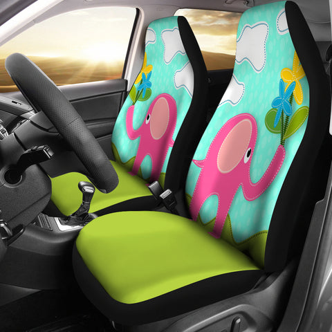 Pink Elephant Car Seat Covers