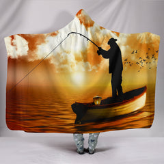 Fishing Is Life Hooded Blankets