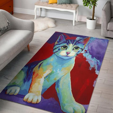 Love My Cat Designer Rug