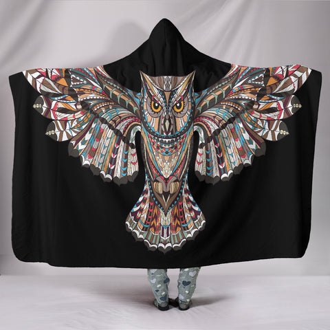 Fierce Owl Hooded Blanket