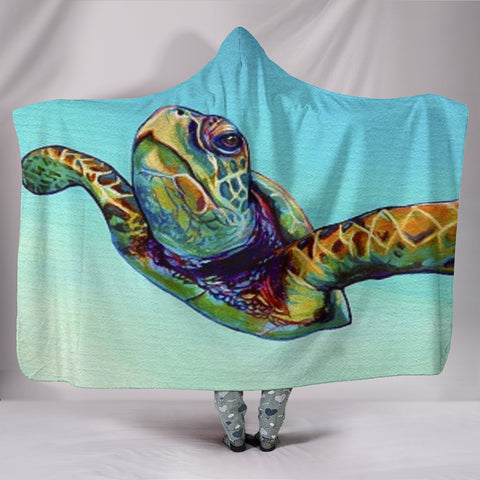 Sea Turtle Hooded Blanket -  Express Shipping
