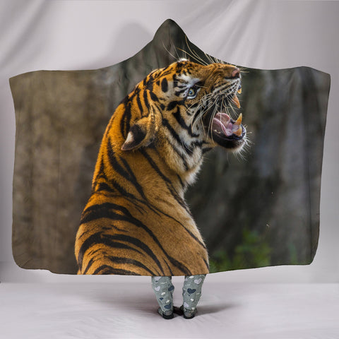 Wild Tiger Hooded Blankets
