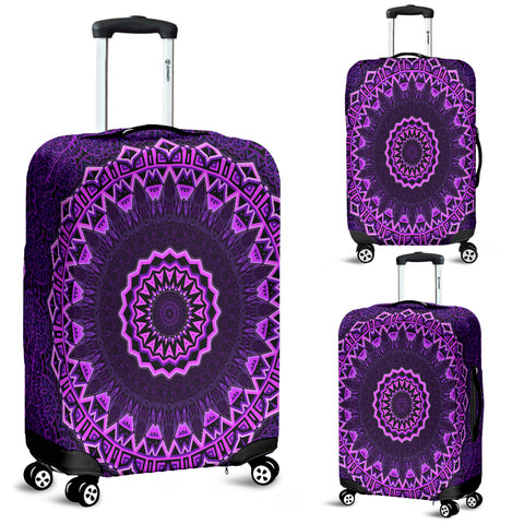 Purple Mandala Luggage Covers