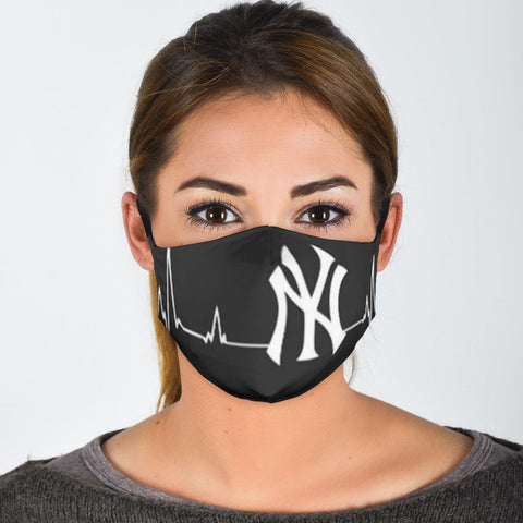 NY Heart Beat Face Mask