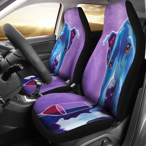 Dog Wine Lover Car Seat Cover