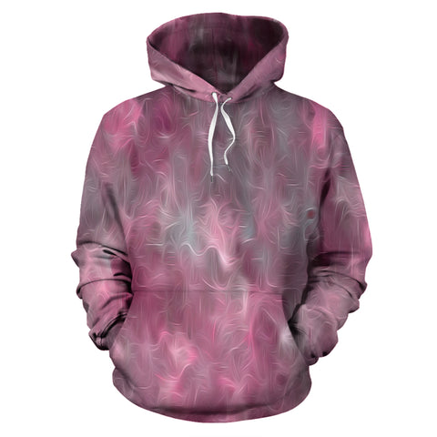 Chic Pink and Gray Fusion Pullover Hoodie