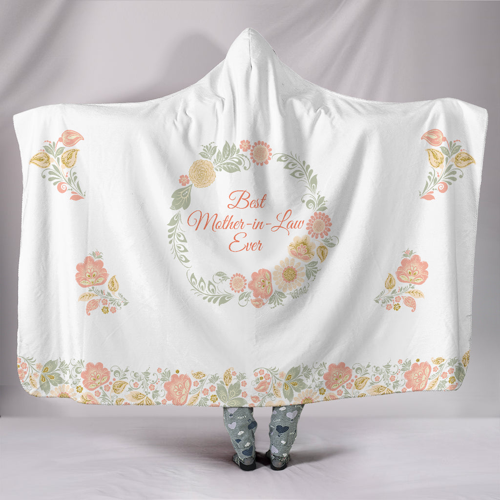 Best Mother In Law Peach Hooded Blanket