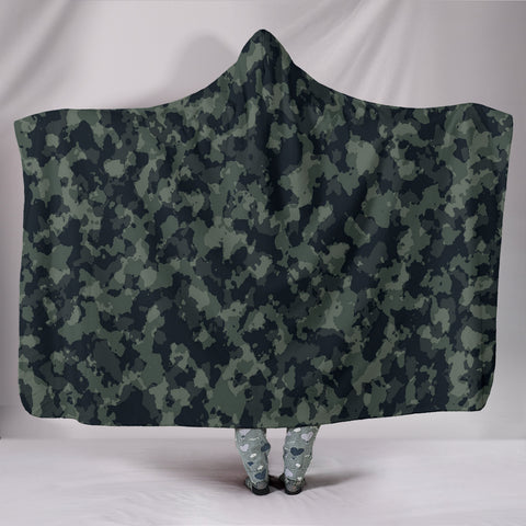 Forest Camouflage Hooded Blankets