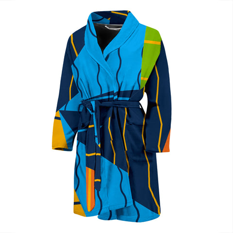 Triangles And Lines Men's Bath Robe