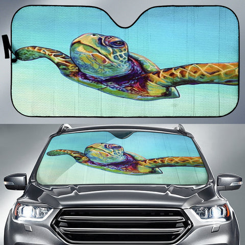 Sea Turtle Auto Sun Shade - Express Shipping