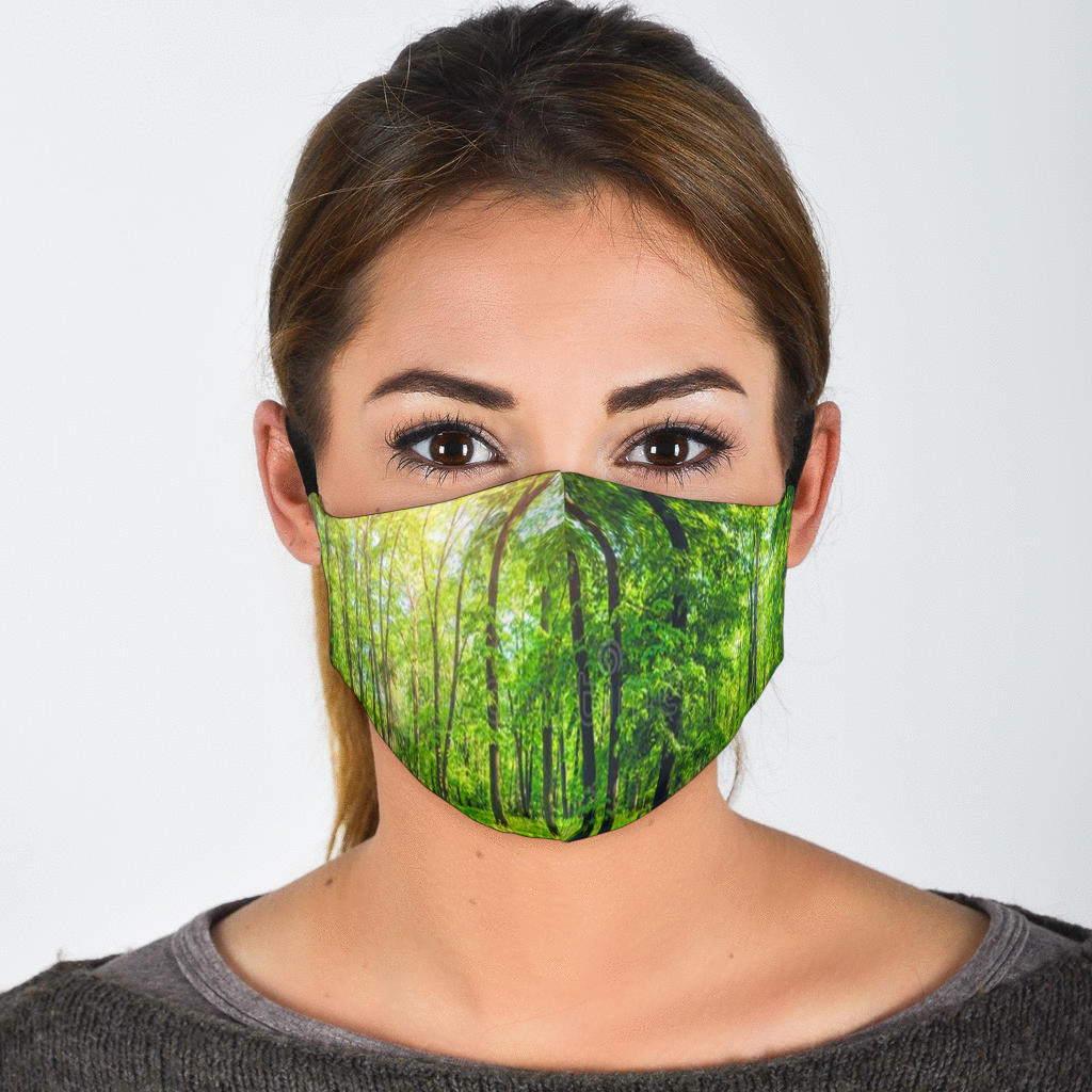 Green Forest Face Mask