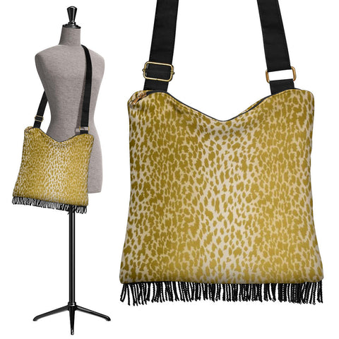 Golden Leopard Crossbody Boho Handbag